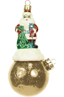 "Украшение ""Дед Мороз на шаре"" Mister Christmas"