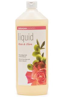 Жидкое мыло роза-олива, 1 л Sodasan
