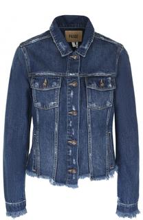 Джинсовая куртка с потертостями Paige