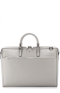 Кожаная сумка для ноутбука с плечевым ремнем Serapian