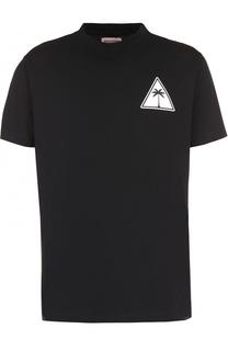 Хлопковая футболка с принтом Palm Angels