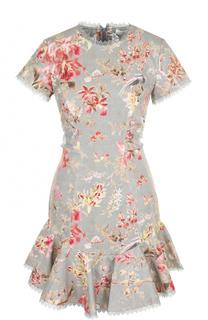 Приталенное мини-платье с цветочным принтом Zimmermann