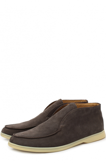 Замшевые ботинки без шнуровки Loro Piana