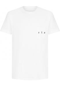 Хлопковая футболка с принтом RTA