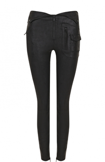Однотонные кожаные брюки-скинни RTA