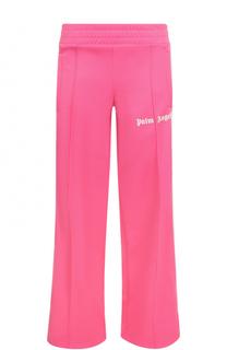 Укороченные расклешенные брюки с лампасами Palm Angels
