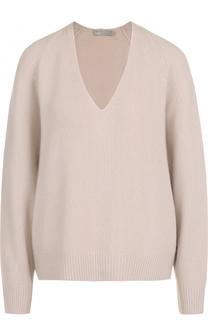 Кашемировый пуловер свободного кроя с V-образным вырезом Vince