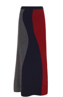 Шерстяная юбка-миди А-силуэта Victoria Beckham