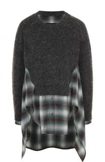 Шерстяной пуловер с круглым вырезом Dsquared2