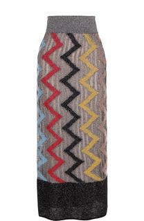 Вязаная юбка-миди с широким поясом Missoni