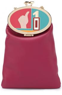 Кожаный кошелек на цепочке Valentino