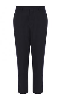 Шерстяные брюки прямого кроя Moncler