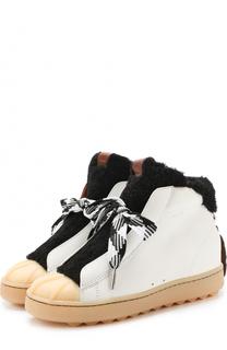 Комбинированные ботинки с внутренней отделкой из меха Coach