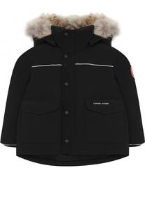 Пуховая куртка Lynx с меховой отделкой на капюшоне Canada Goose