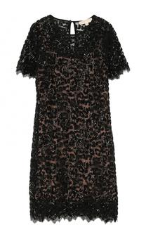 Приталенное мини-платье с пайетками MICHAEL Michael Kors
