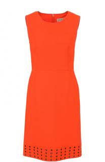 Приталенное шерстяное платье-миди без рукавов Emilio Pucci
