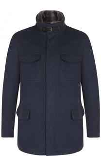 Кашемировая куртка на молнии с меховой подкладкой Loro Piana