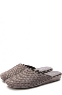 Плетеные домашние туфли на танкетке Homers At Home
