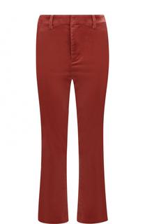 Бархатные расклешенные брюки Frame Denim