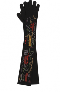 Удлиненные перчатки с декором из страз Giorgio Armani