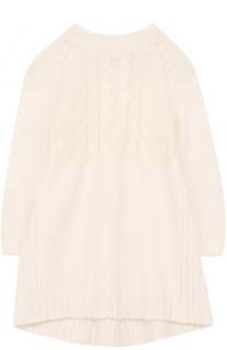 Кашемировое платье с фактурным узором Loro Piana