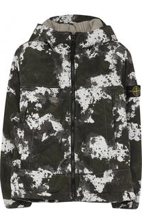 Куртка с капюшоном и принтом Stone Island