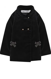 Укороченное двубортное пальто с бантами Tartine Et Chocolat