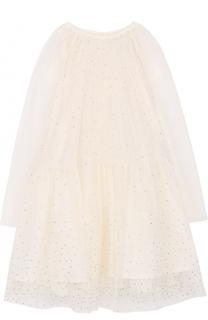 Многослойное мини-платье со стразами Stella McCartney