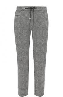 Хлопковые брюки прямого кроя с поясом на кулиске Bogner