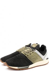 Текстильные кроссовки 247 с замшевой отделкой New Balance