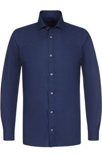 Хлопковая рубашка с воротником кент Z Zegna