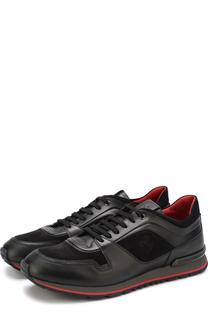 Комбинированные кроссовки на шнуровке Tod's Tods