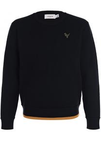 Шерстяной свитер с аппликацией Coach