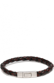 Плетеный кожаный браслет Tateossian