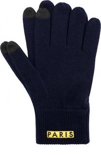 Шерстяные перчатки с аппликацией Kenzo