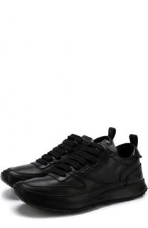 Кожаные кроссовки на шнуровке Ann Demeulemeester