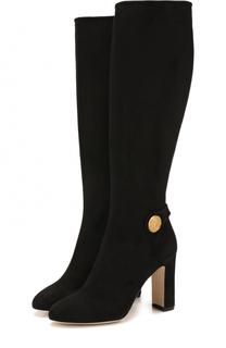 Замшевые сапоги Vally на устойчивом каблуке Dolce & Gabbana