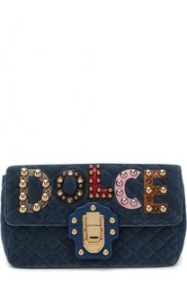 Сумка Lucia из текстиля с аппликациями Dolce & Gabbana