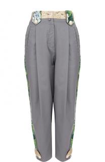 Укороченные брюки с лампасами и защипами Dolce & Gabbana