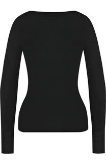 Шерстяной приталенный пуловер с вырезом-лодочка Alaia