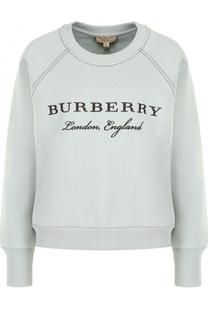 Хлопковый свитшот с круглым вырезом Burberry