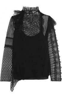 Кружевная блуза с длинным рукавом и воротником-стойкой 3.1 Phillip Lim