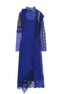Приталенное кружевное платье-миди 3.1 Phillip Lim