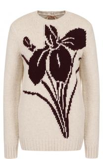 Шерстяной пуловер с круглым вырезом No. 21