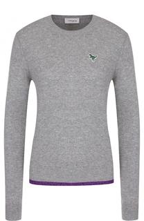 Кашемировый пуловер с круглым вырезом Coach