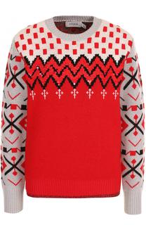 Пуловер прямого кроя из смеси шерсти и кашемира Coach
