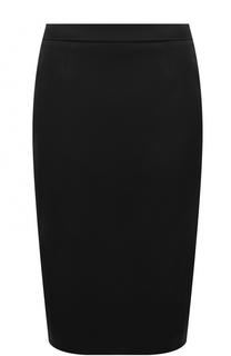 Однотонная юбка-миди с разрезом Escada