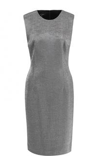 Приталенное платье-миди без рукавов Escada