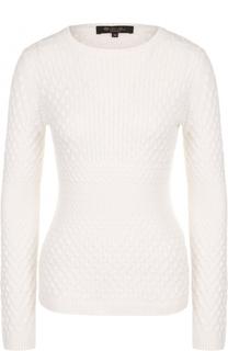 Приталенный кашемировый пуловер фактурной вязки Loro Piana