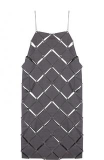 Шерстяное платье прямого кроя Paco Rabanne